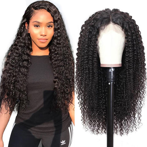 Queen Level Beauty Invisible Lace Wig- Kinky Curl 4x4 150% Density