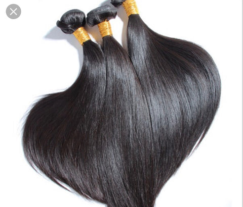 Queen Level Beauty Raw Hair- Straight (3 Bundles)