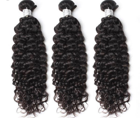 Queen Level Beauty Raw Human Hair- Curly(3 Bundles)