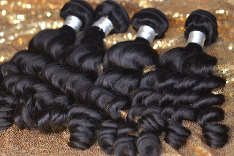 4x4 Bundle Kit: 3 Bundles + 1 Closure  *Pineapple Wave*