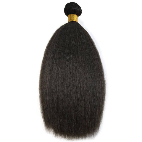 13x4 Bundle Kit: 3 Bundles + 1 Closure *Kinky Straight*
