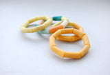 Modern geometrical design bracelet, made of sustainable tagua nut / vegetable ivory