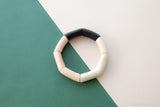 Modern geometrical design  bracelet: made of sustainable tagua nut / vegetable ivory