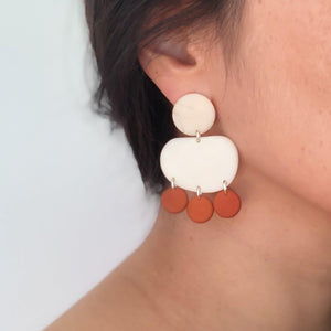 Elenei Earrings handmade with sustainable tagua nut