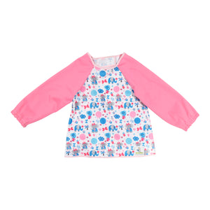 Long-Sleeved Pink Elephant Hero Bib