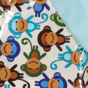 Long-Sleeved Funny Monkey Hero Bib