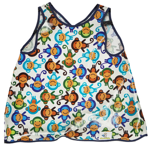 Funny Monkey Hero Bib (dark blue lining) - Hero Bibs