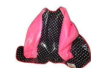 Long-sleeved Polka Dots Hero Bib (pink) - Hero Bibs