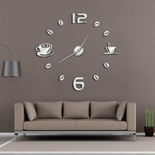 "Load image into Gallery viewer, ""Coffee Time"" Wall Clock"