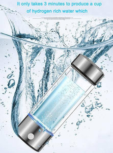HYIO 430ML Portable Hydrogen Water Bottle Ionizer