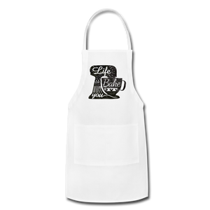 Life is What you Bake it Adjustable Apron - Inspire Me Positive, LLC