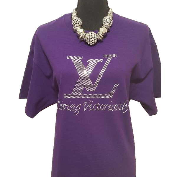 Living Victoriously Bling Rhinestone Shirt