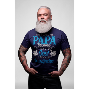 Cool Papa Grandfather Short-Sleeve T-Shirt - Inspire Me Positive, LLC