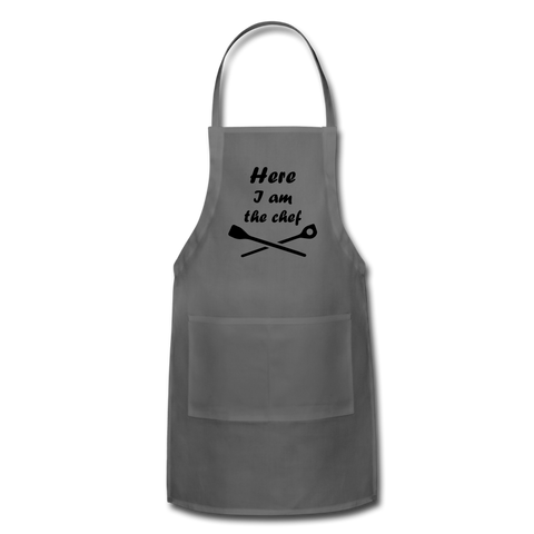 Here I am the Chef Adjustable Apron - Inspire Me Positive, LLC