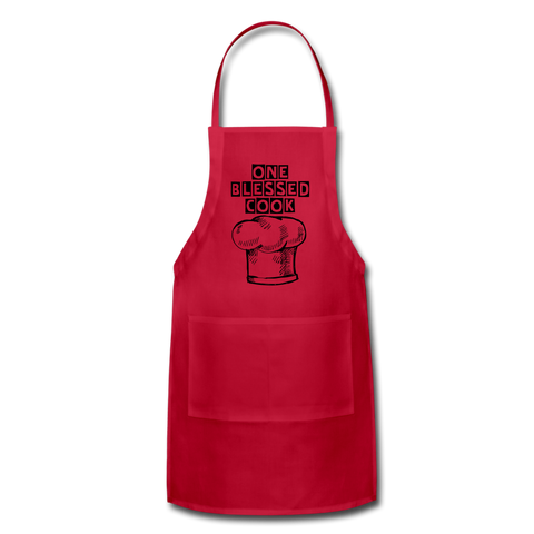One Blessed Cook Adjustable Apron - Inspire Me Positive, LLC