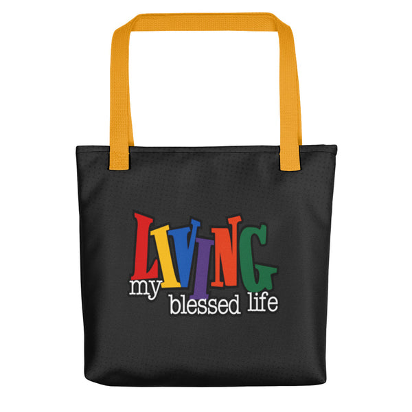 Living My Blessed Life Tote Bag - Inspire Me Positive, LLC