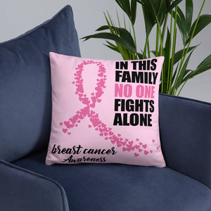 Breast Cancer Awareness Fighter Pillow