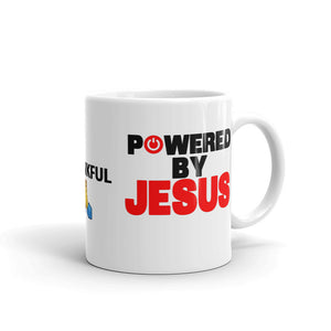 Powered By Jesus Mug - Inspire Me Positive, LLC