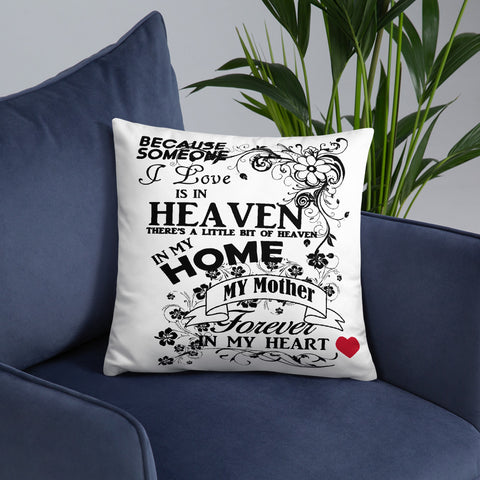 Tribute to Mom in Heaven Accent Pillow - Inspire Me Positive, LLC