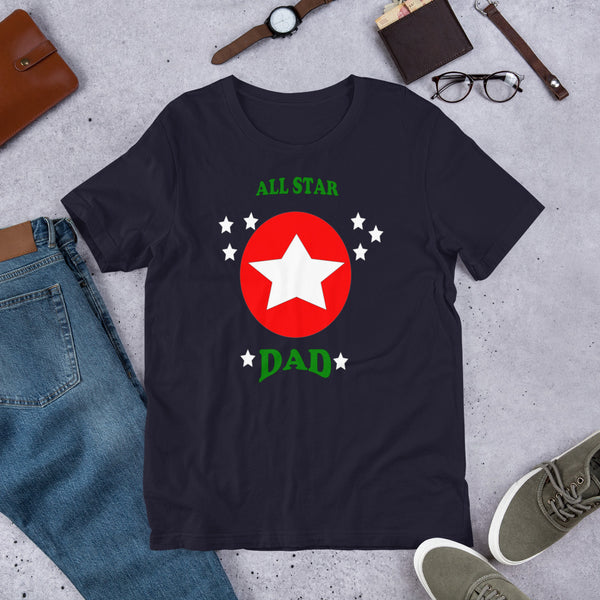 All Star Dad Short-Sleeve T-Shirt - Inspire Me Positive, LLC