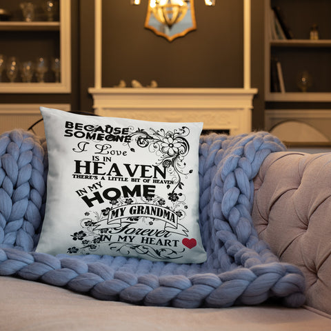 Tribute to Grandma in Heaven Print Accent Pillow - Inspire Me Positive, LLC