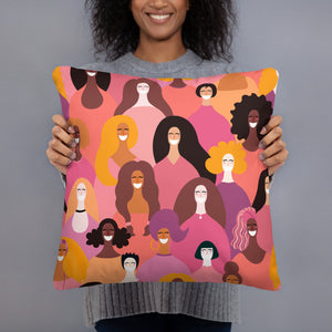 Celebration of Girl Power Accent Pillow - Inspire Me Positive, LLC