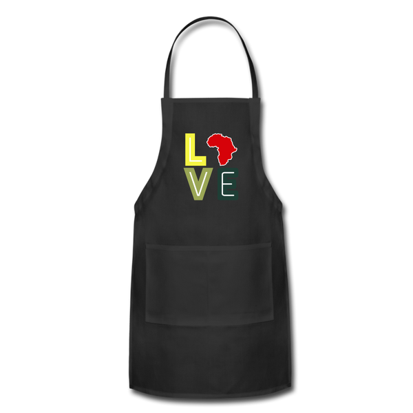 Africa Love Apron - black