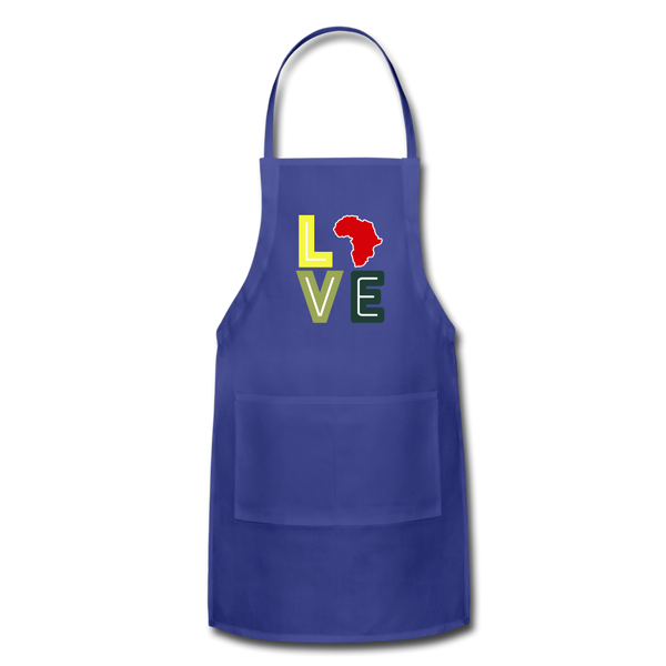 Africa Love Apron - royal blue