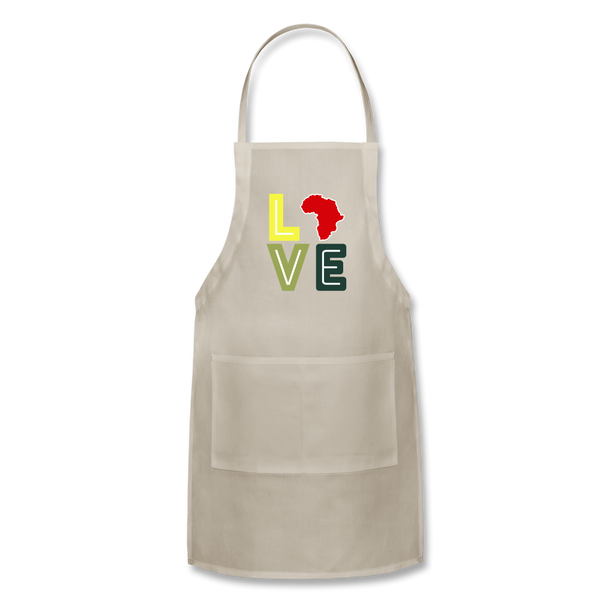Africa Love Apron - natural