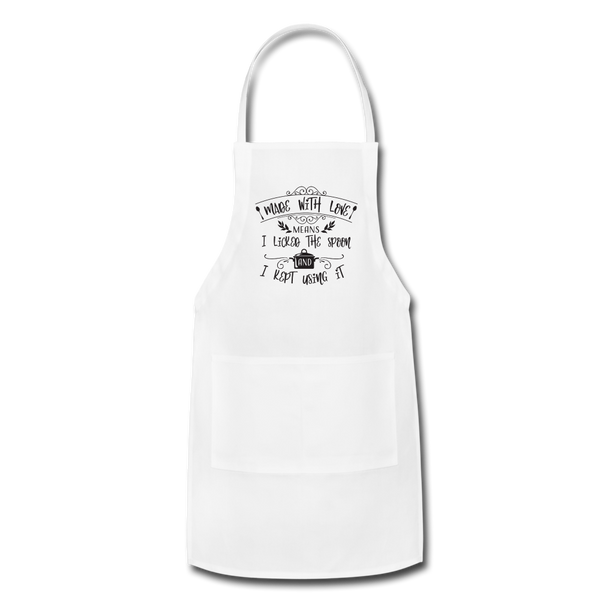 Made with Love Adjustable Apron - white