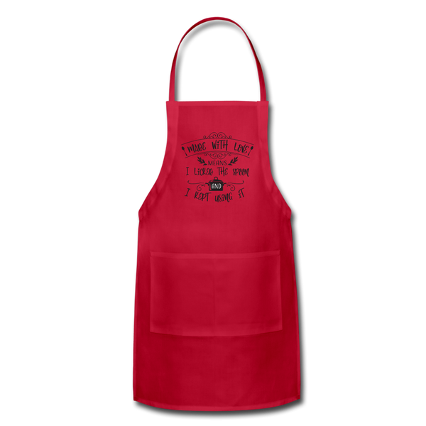 Made with Love Adjustable Apron - red