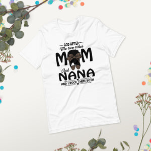 Mother's Day T-shirt Nana Messy Bun