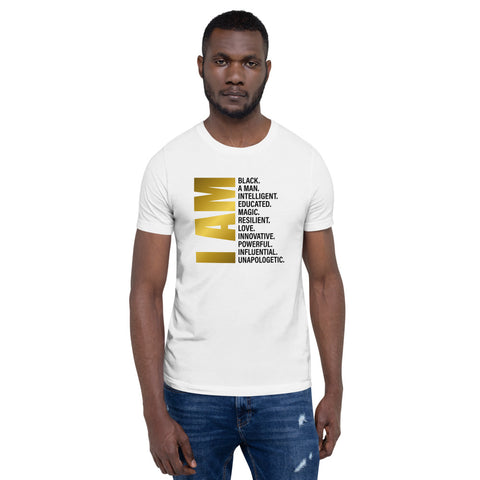 I Am A Black Man Short-Sleeve white T-Shirt