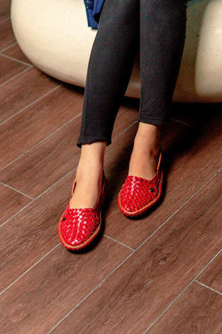 Hola Red most stylish office shoes for women in Malaysia - Fireworks House