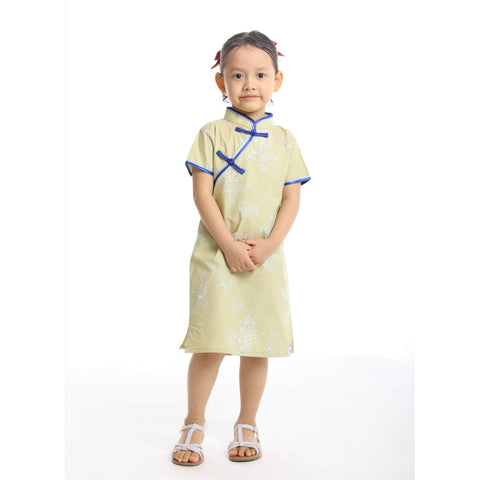 DAUN Girls Cheongsam Short Sleeves - Fireworkshouse