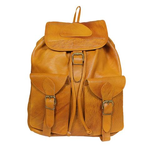 Leather backpack - Light brown - Fireworks House