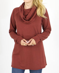 Ultra-Soft Cowl Neck Tunic