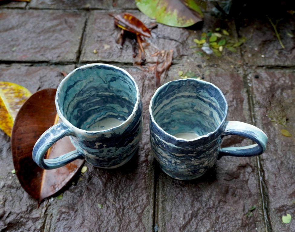 Blue Tide Mugs (Set of 2)
