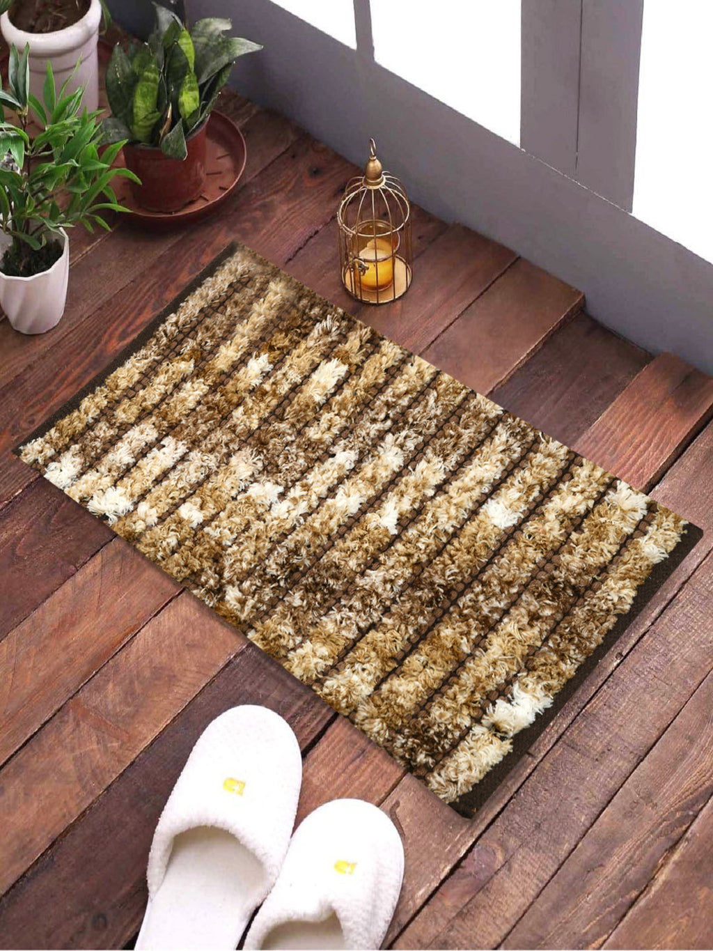 Furry Handwoven Rugs (Set Of 2)