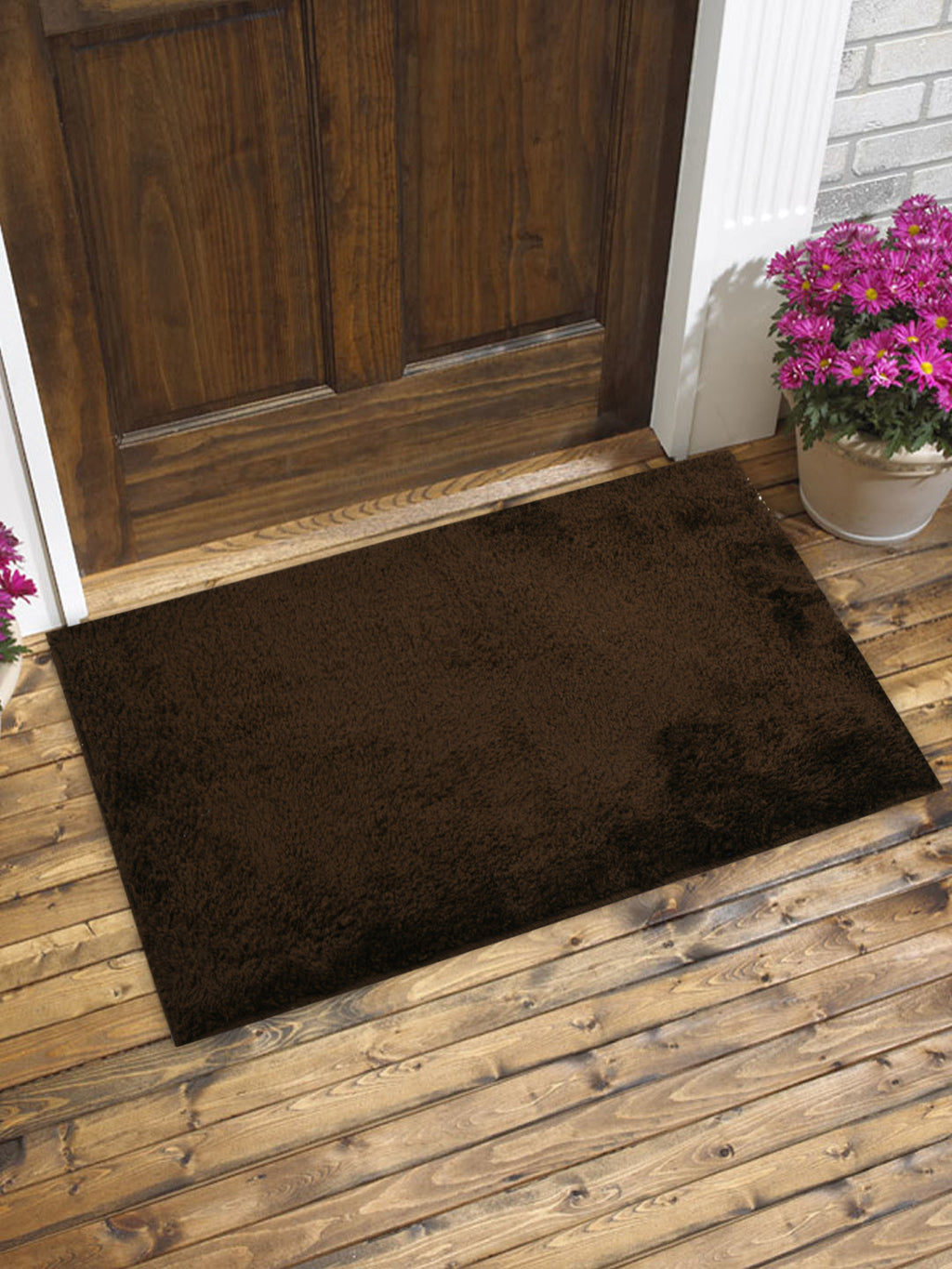 Brown Micro Rubber Back Mat