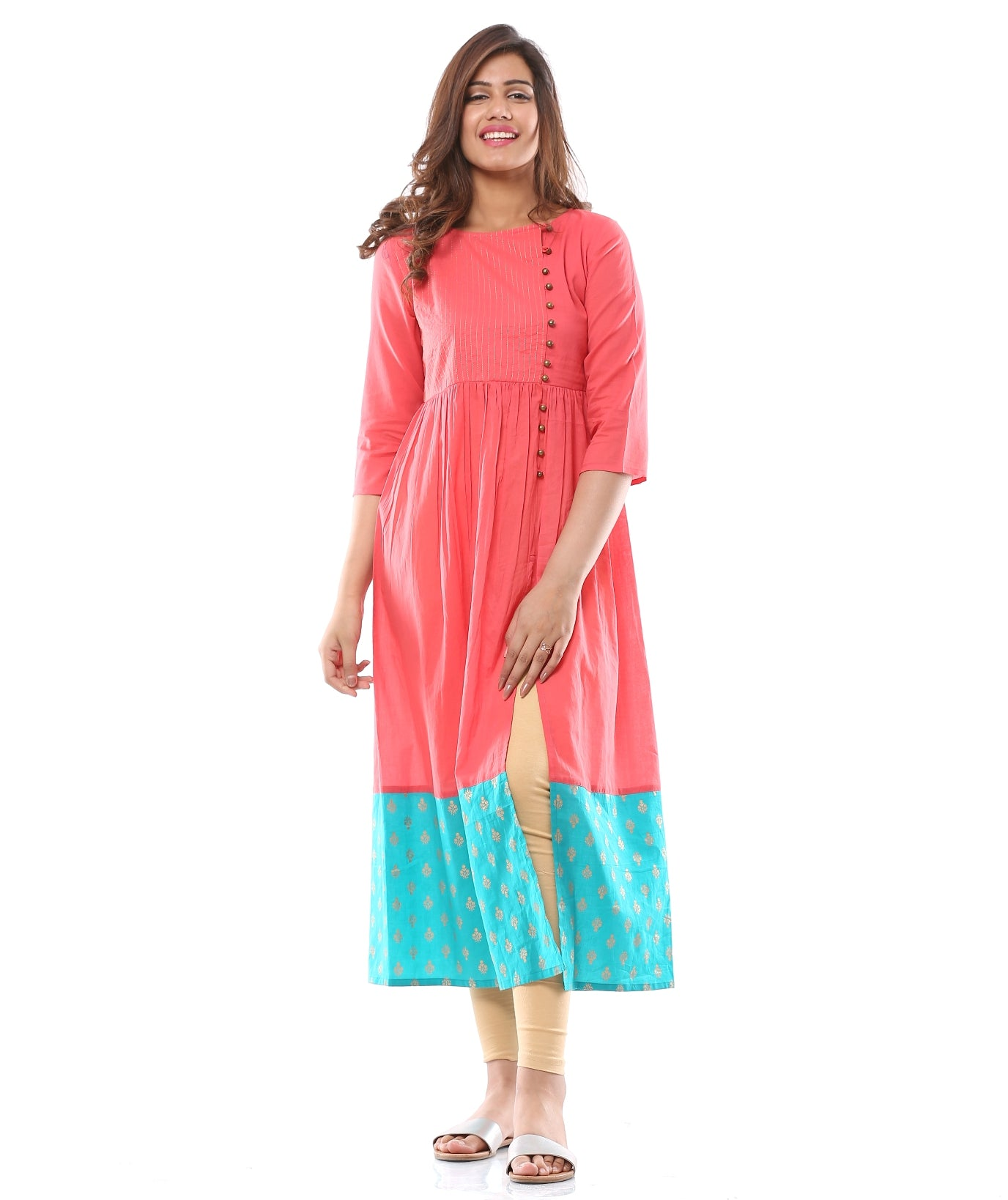 Off Center Cut Kurta