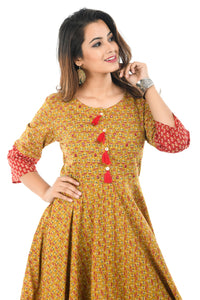 Buti Printed Long Kurta