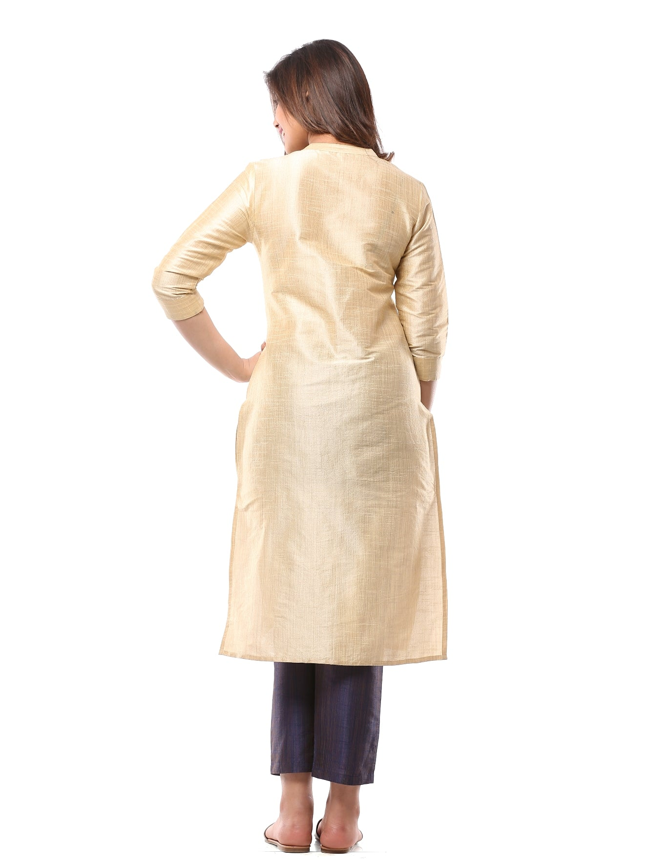 Kurta with Embroidery Details