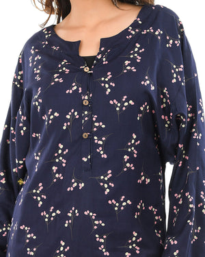 At-Ease Oversize Top with Buttons