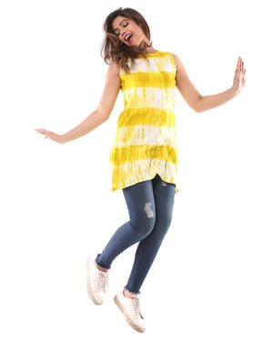 Tie Dye Tunic with Buttons