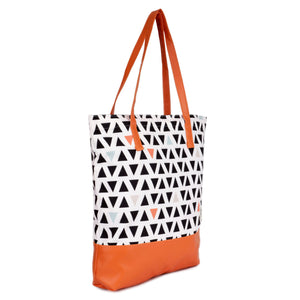 Geometric Canvas Tote Bag