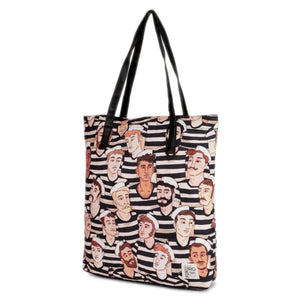 Faces Canvas Tote Bag