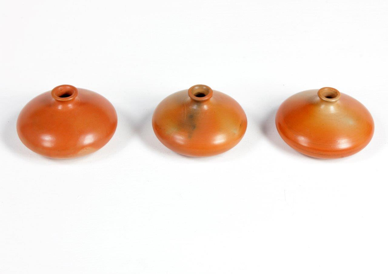 Terracotta Natural Flat Pot  (Set of 3)