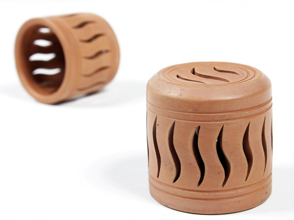 Terracotta Flame Cut Tea-Light (Set of 2)