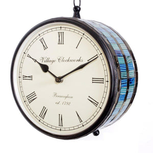Blue Lining Station Clock